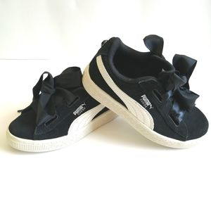 Puma Girl's Black Shoes - size 11